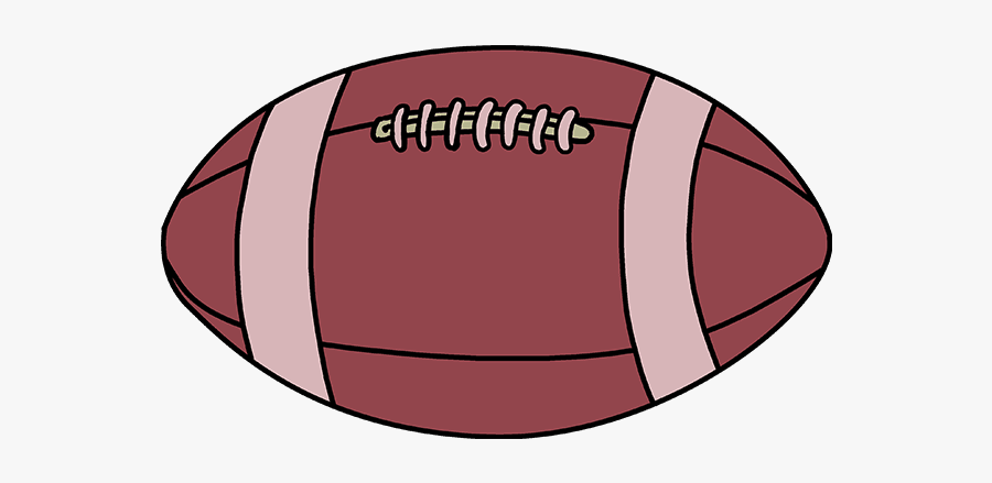 Football Clipart Vertical - Football To Draw, Transparent Clipart