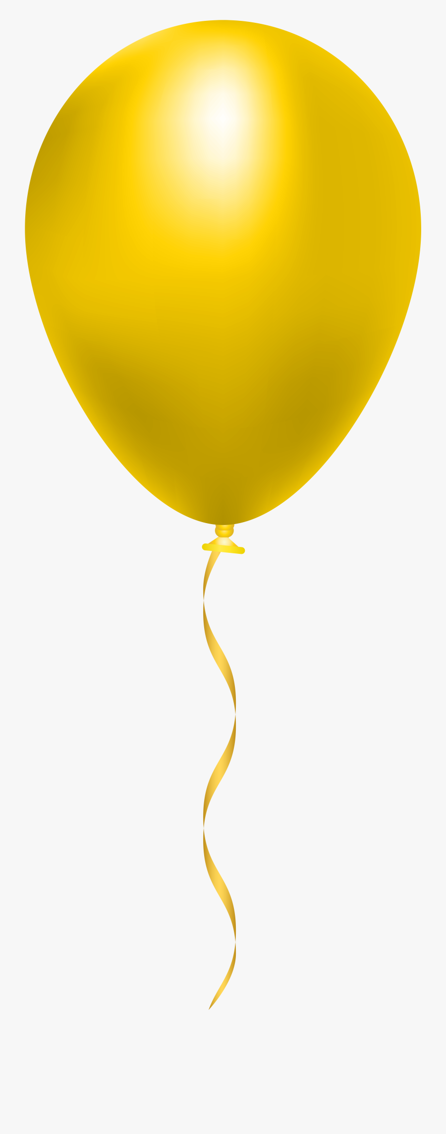 Transparent Baloon Clipart - Yellow Balloon Transparent Background, Transparent Clipart