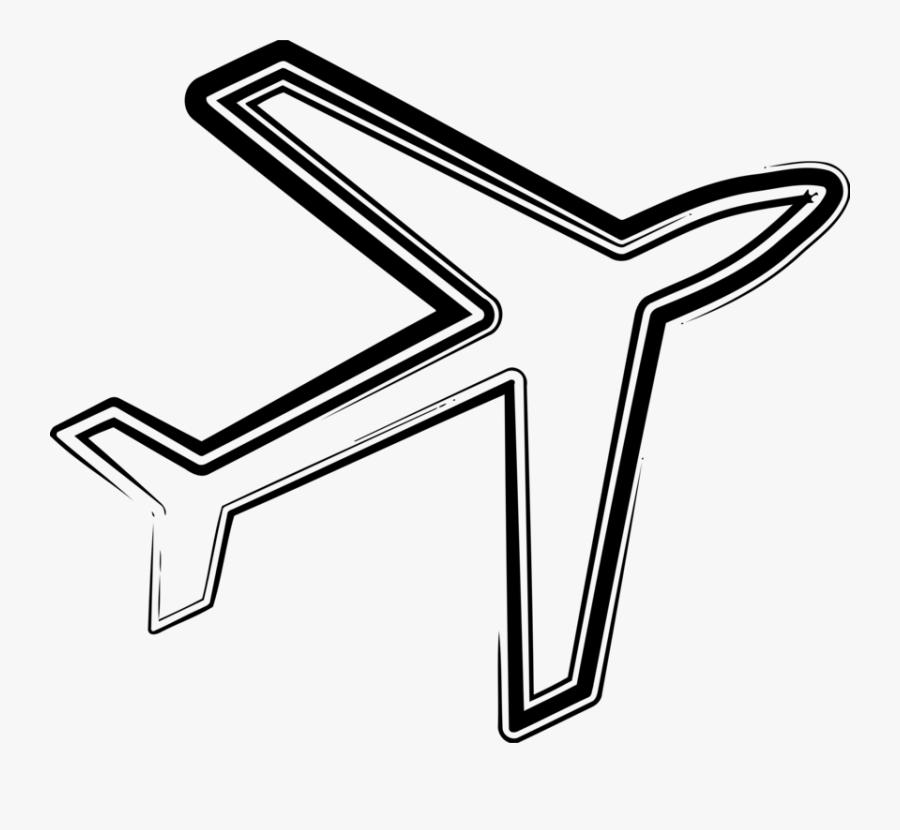 Line Art,angle,area - Airline, Transparent Clipart