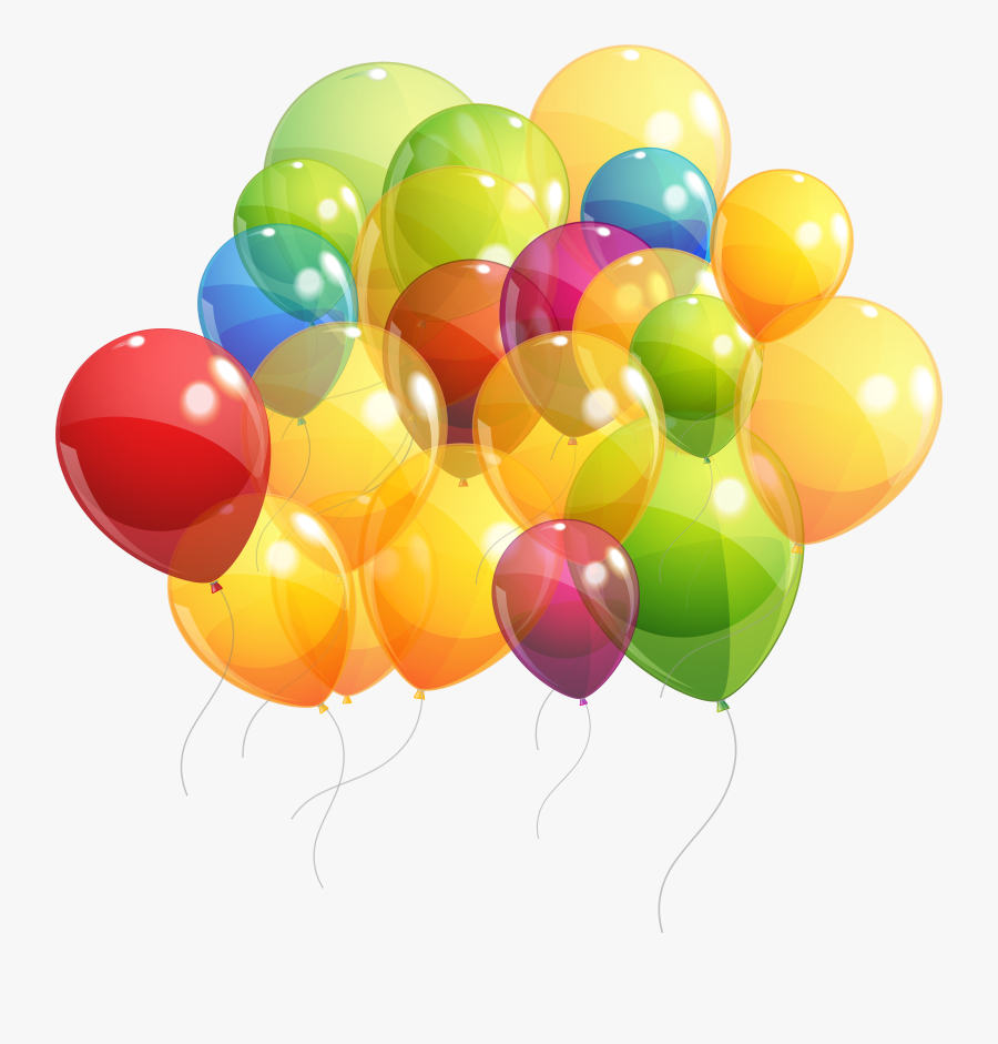 Transparent Baloon Clipart - Bunch Of Balloons Png, Transparent Clipart