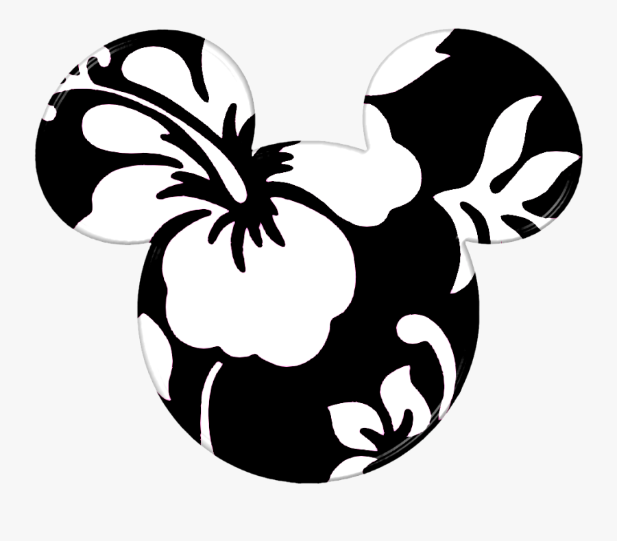 Transparent Minnie Mouse Head Clipart - Mickey Mouse Ears Hawaiian, Transparent Clipart