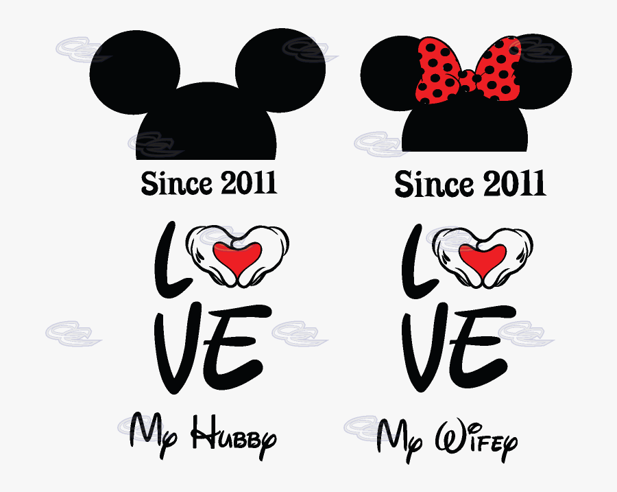 Transparent Kinetic Energy Clipart - Mickey And Minnie Shape, Transparent Clipart