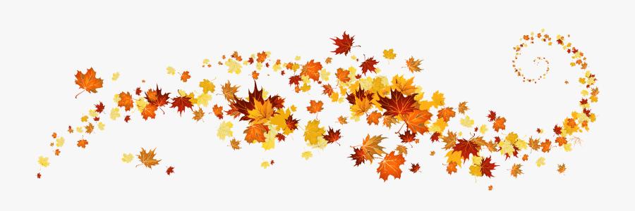 Fall Leaves Banner Clip Art, Transparent Clipart