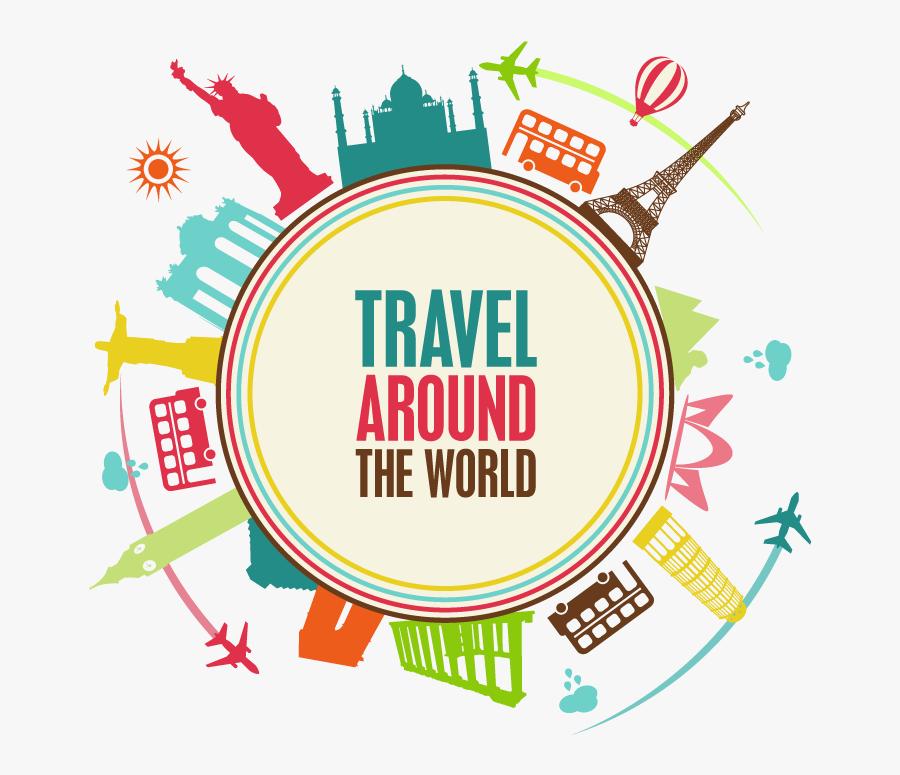 Studios Flight Around Singapore Travel Agent Suitcase - Traveler Around The World, Transparent Clipart