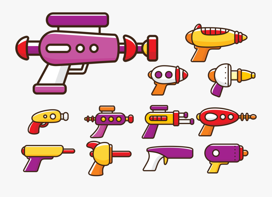 Laser Gun Cartoon - Pistola Laser Cartoon, Transparent Clipart