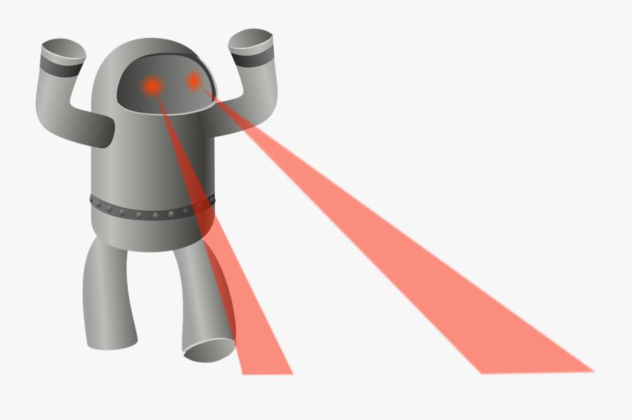 Robot Laser Eyes Archer - Robot With Laser Eyes, Transparent Clipart