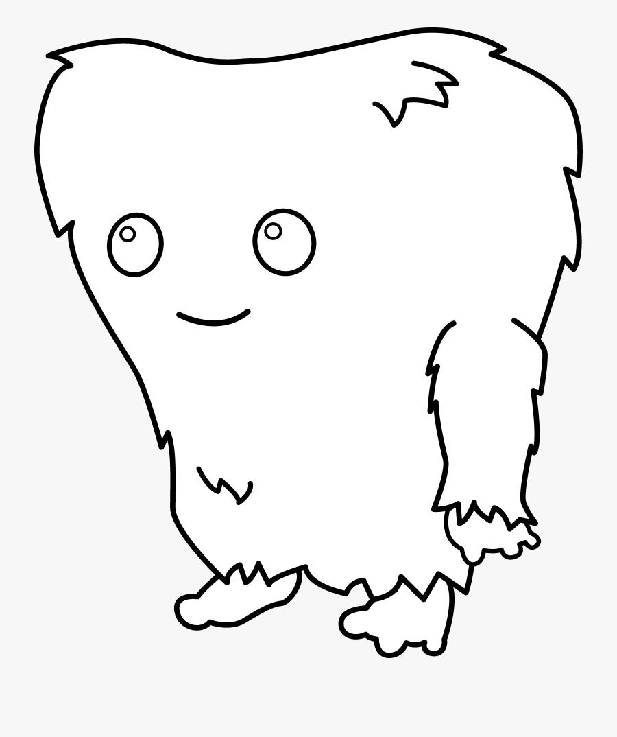 Cute Monster Line Art, Transparent Clipart