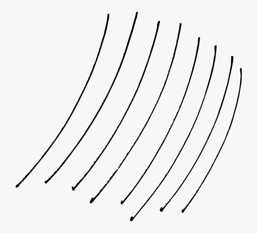 Bent Lines - Line Art, Transparent Clipart