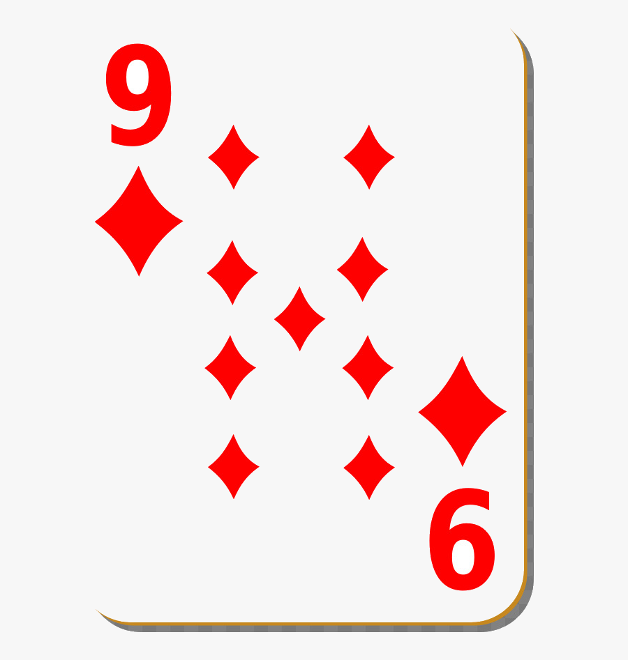 Playing Cards X Card Game Poker Standard Deck Clip - 9 Of Diamonds Playing Card, Transparent Clipart