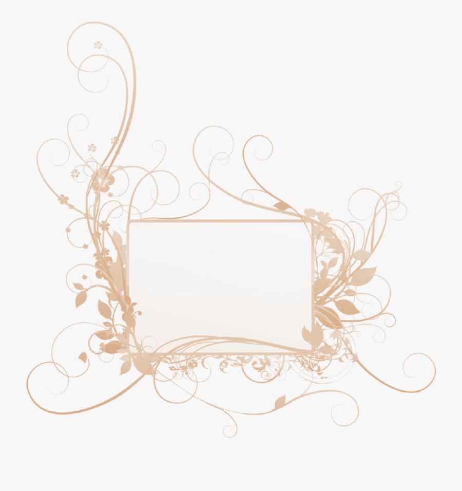 Transparent Wedding Clipart Borders - Wedding Florals Vector Png, Transparent Clipart
