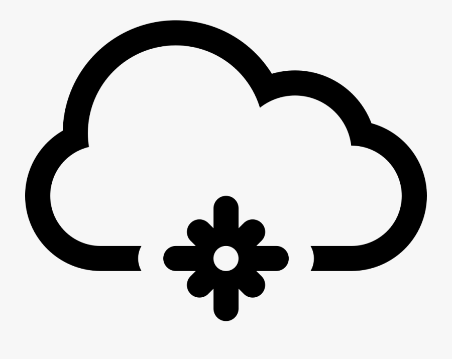Snowflake Clipart Black And White Png - Weather Forecast Snow Symbol, Transparent Clipart
