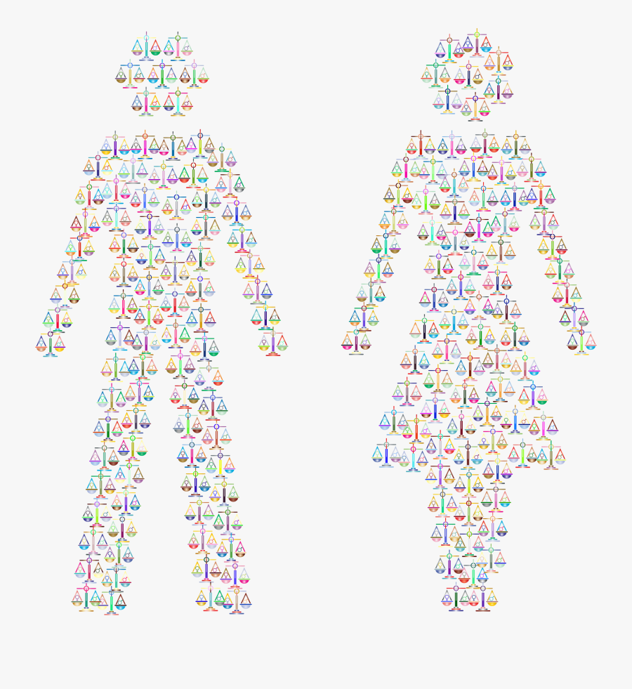 Clipart - Male And Female Symbols Background, Transparent Clipart