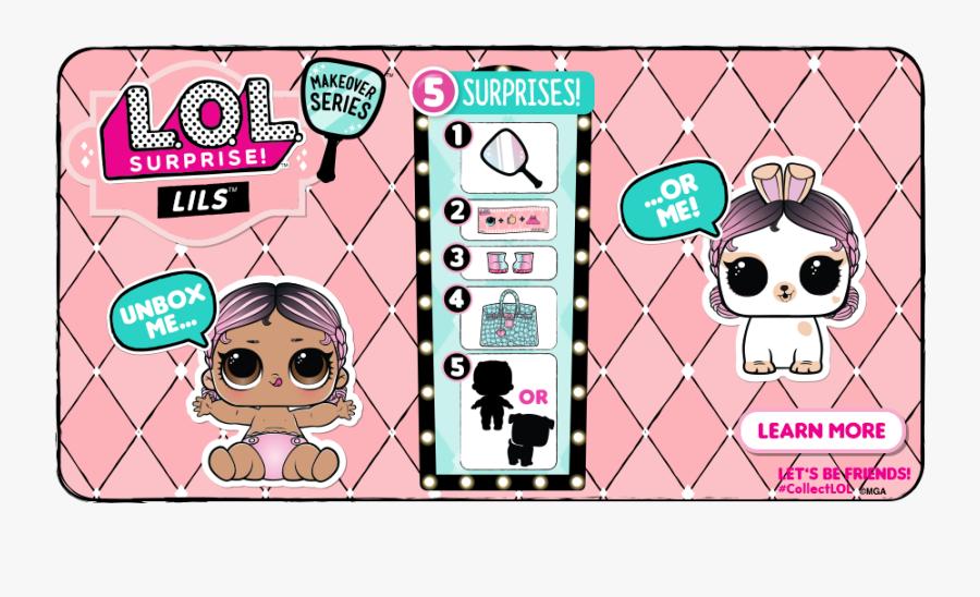 Lol Surprise Lil Sisters Makeover Series, Transparent Clipart