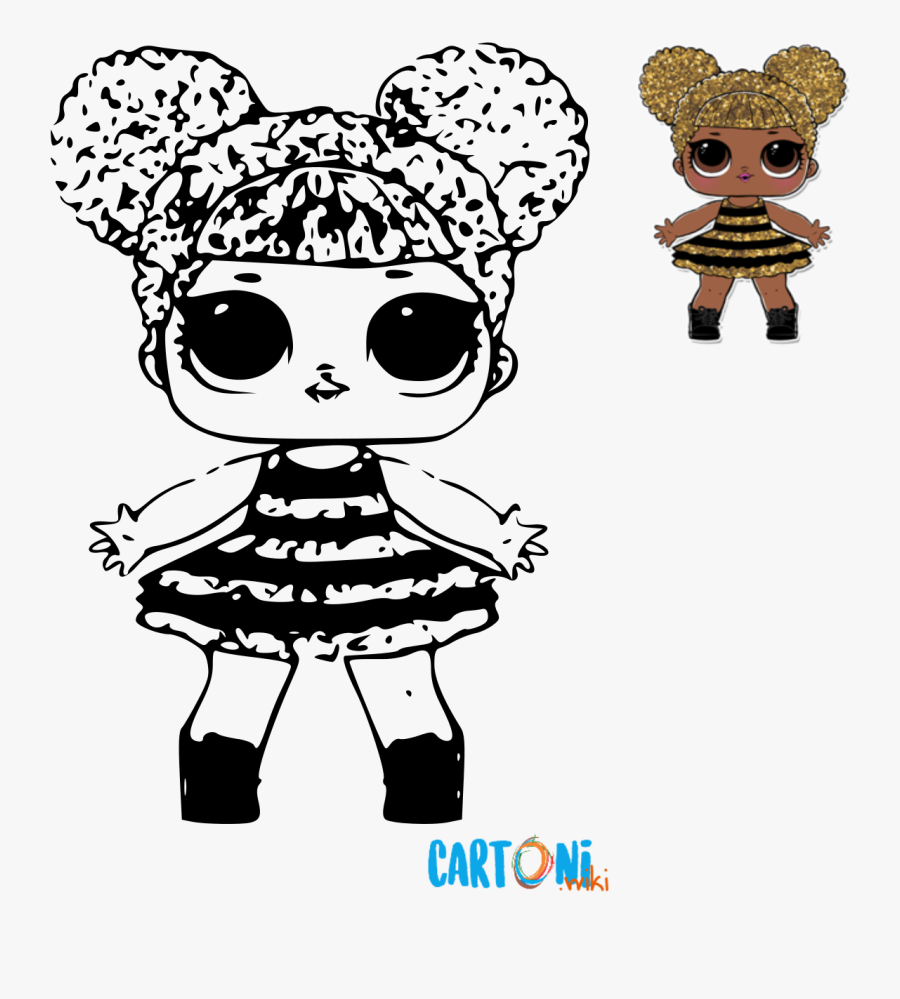 Cartoni Animati Immagini Da Colorare.Lol Surprise Queen Bee Da Colorare Cartoni Animati Roupa