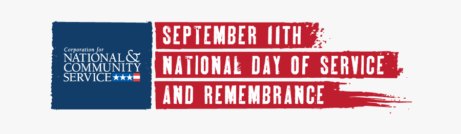 National Day Of Service September 11, Transparent Clipart