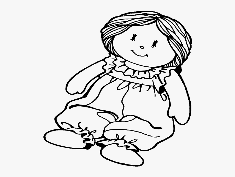 Coloring Dolls - Doll Clipart Black And White , Free ...