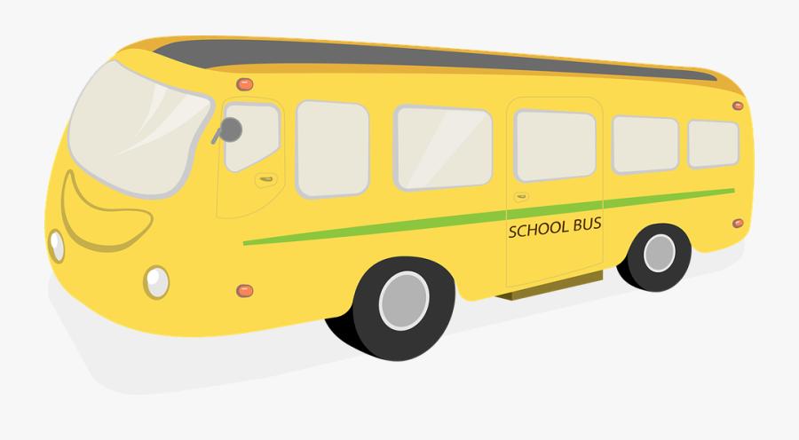Transparent School Bus Driver Clipart - Un Bus Del Colegio Animado, Transparent Clipart