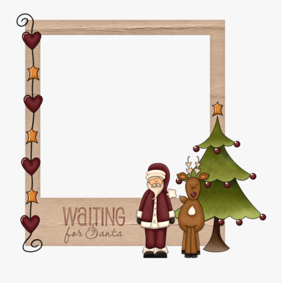 Christmas Waiting For Santaframe Png - Free Clipart Christmas Frames, Transparent Clipart