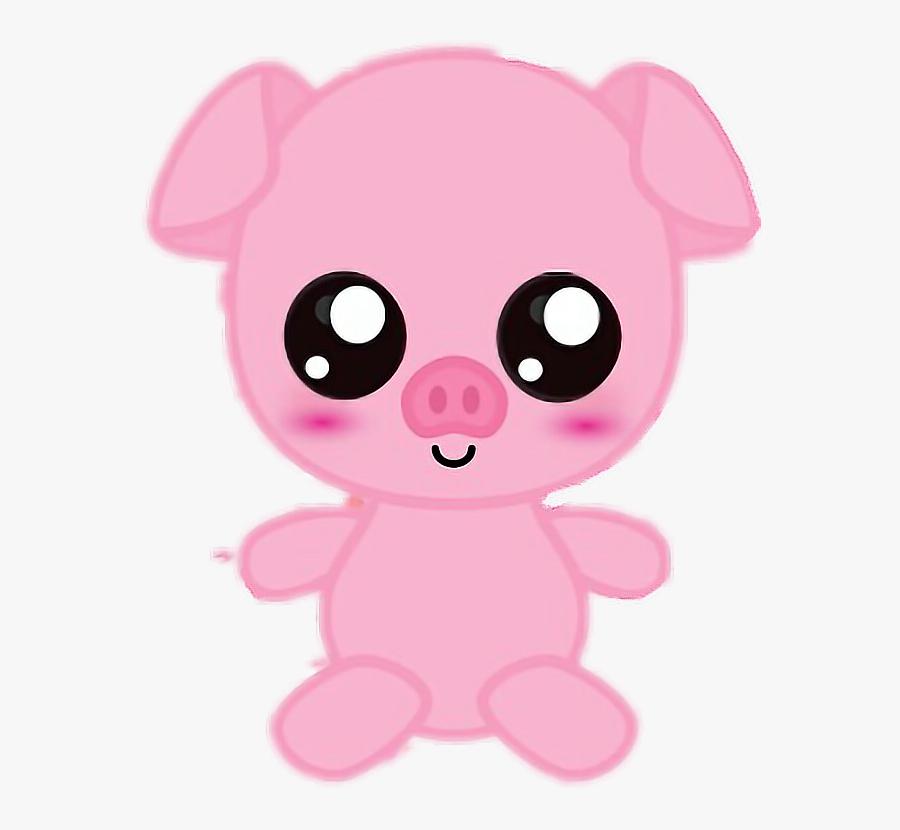 Cute Pig Piggy Cutie Art Drawing Animals - Drawing Of A Cute Pig, Transparent Clipart