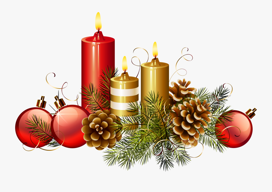 Christmas Candles Png Clipart Image - Christmas Decorations Advent Candles, Transparent Clipart