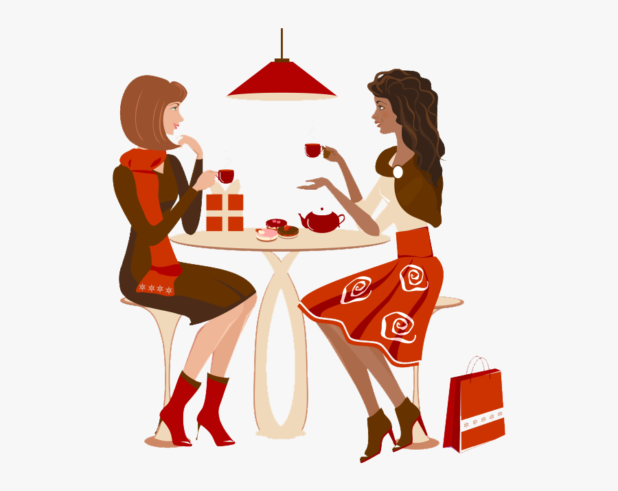 Two People Talking Cartoon, Transparent Clipart