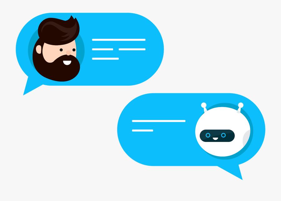 Transparent Conversation Between Two People Clipart - Chatbot Illustration, Transparent Clipart