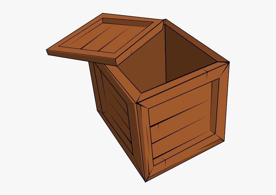 Wood Crate Clipart - Open Wooden Box Clipart, Transparent Clipart
