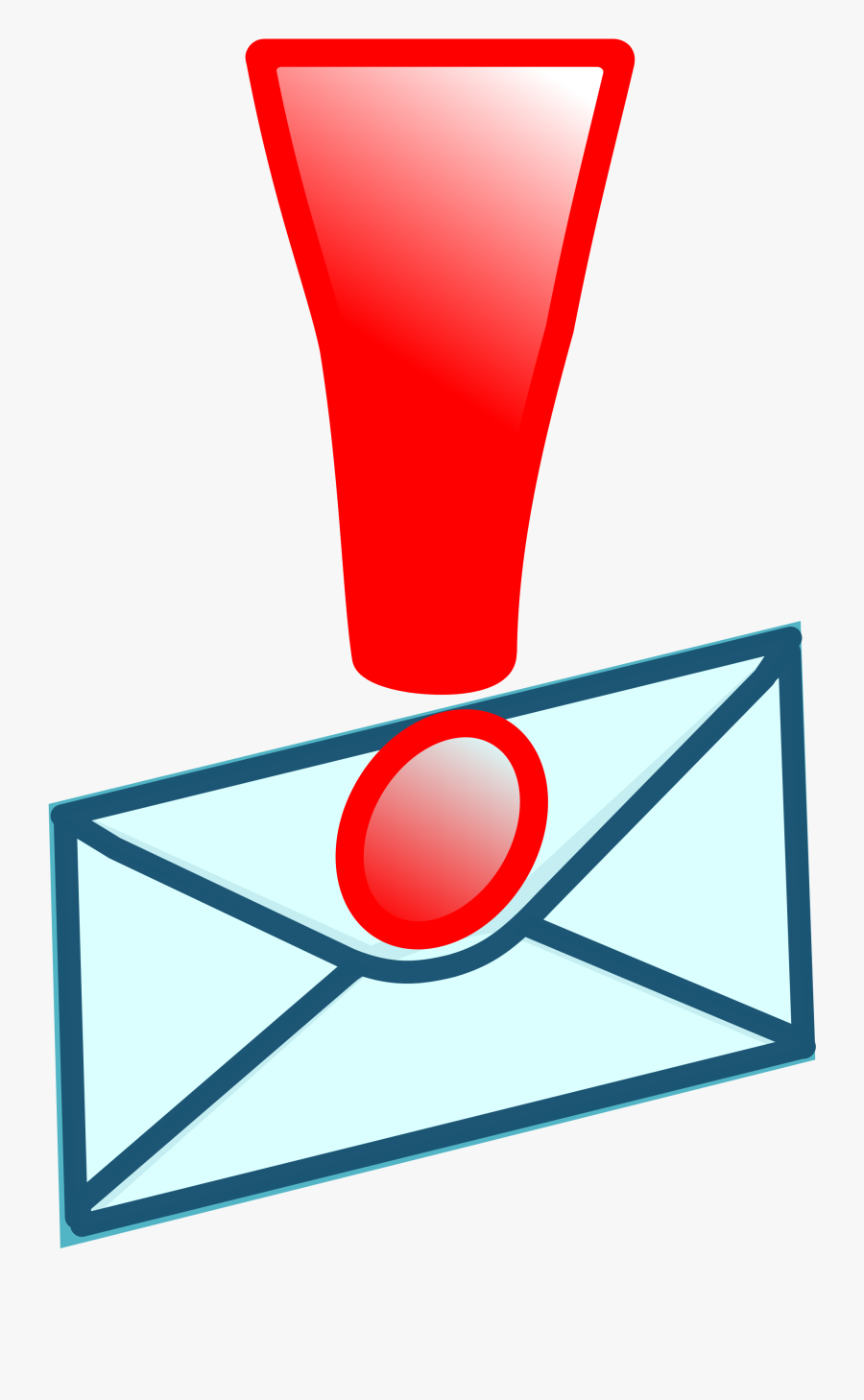 Red Exclamation Mark Png - Envelope, Transparent Clipart