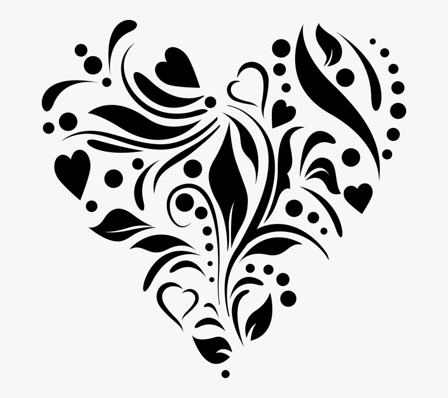 Heart, Stencil, Cutting File, Romance, Design - Clipart Designs For Wedding Cards, Transparent Clipart