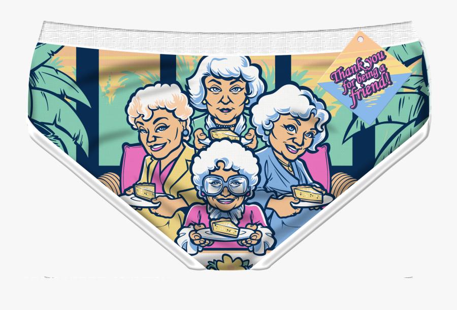Transparent Big Girl Panties Clipart - Golden Girls Granny Panties, Transparent Clipart