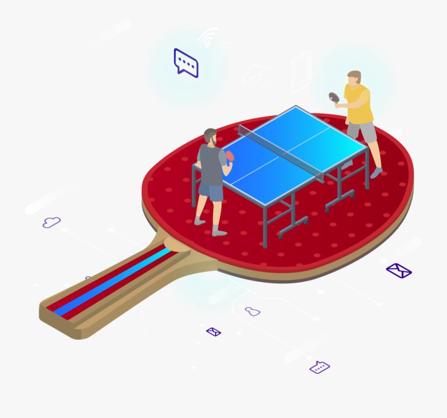 Table Tennis Racket, Transparent Clipart