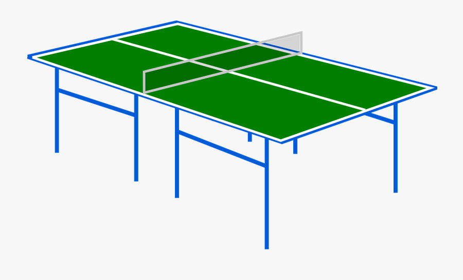 Table Tennis, Ping Pong, Sport, Net, Game, Play, Green - Ping Pong Table Clipart, Transparent Clipart