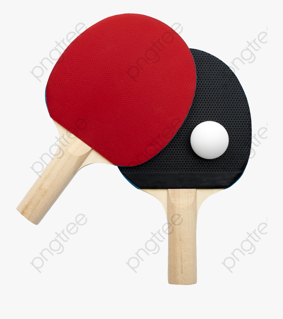 Different Table Tennis Bats - Ping Pong, Transparent Clipart