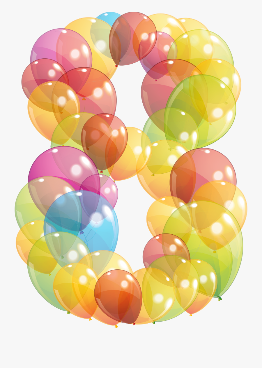 Transparent Yellow Balloons Png - Transparent Eight Number Of Balloons, Transparent Clipart