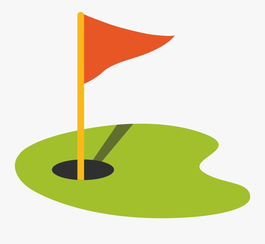 Golf Flag In Hole - Golf Flag Emoji, Transparent Clipart