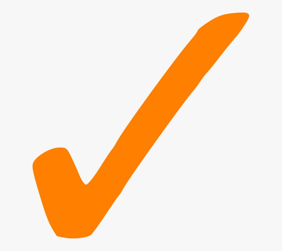 Check, Correct, Tick, Sign, M - Orange Check Mark, Transparent Clipart