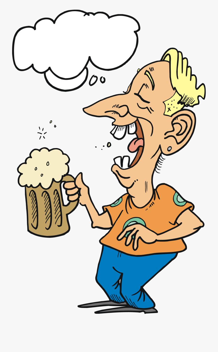 Clip Art Drunk Man Clipart - Funny Invitation Birthday Party, Transparent Clipart