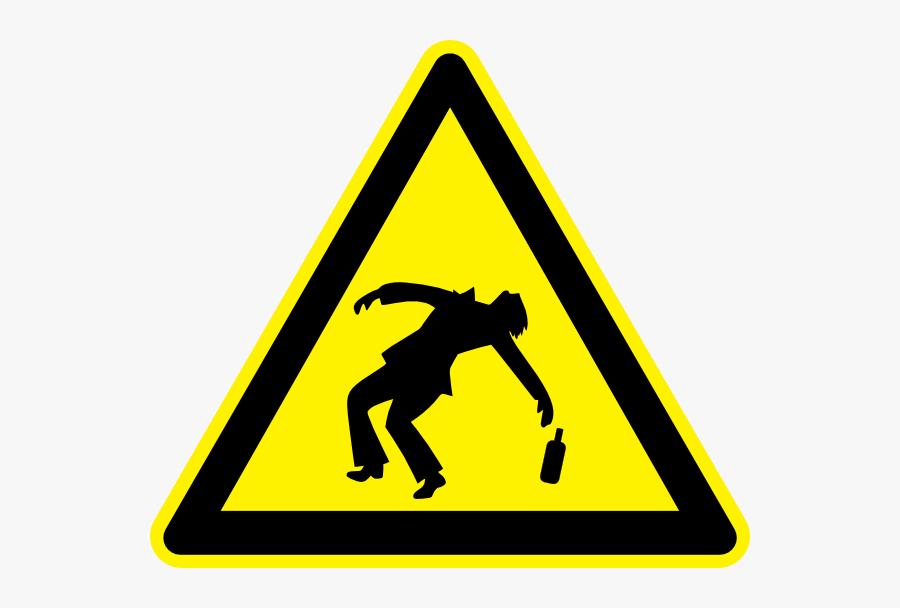 Cartoon Drunk - Toxic Warning Sign Png, Transparent Clipart