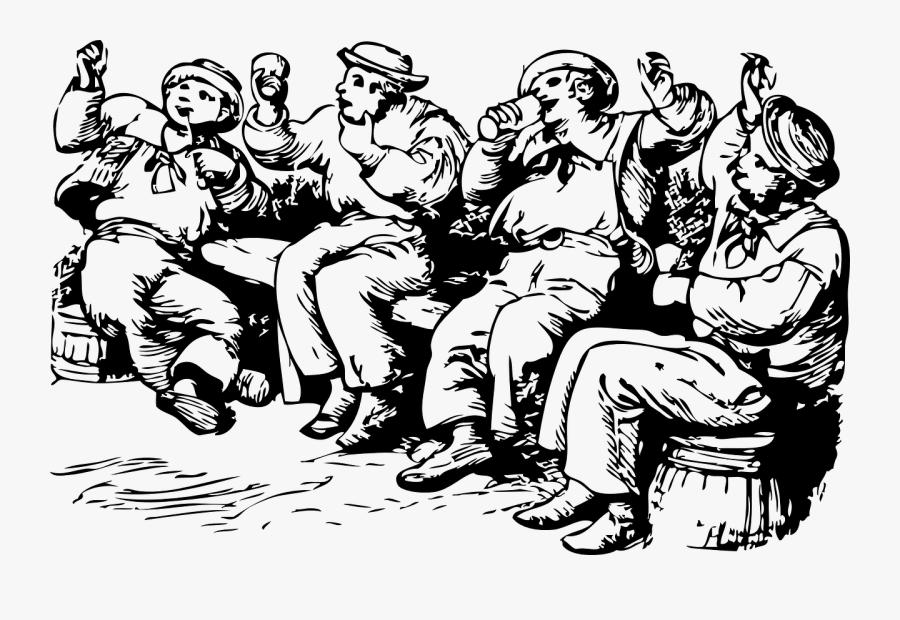 Transparent Drunk Clipart - Sailor Drinking Clipart, Transparent Clipart