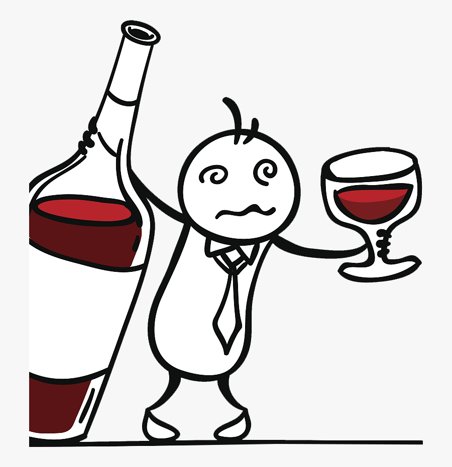 Red Wine Drawing - Wine Cartoon Png, Transparent Clipart