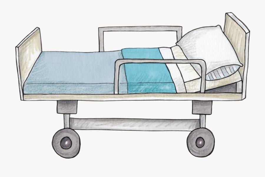 Hospital Clipart Hospital Bed - Hospital Bed Art Png, Transparent Clipart