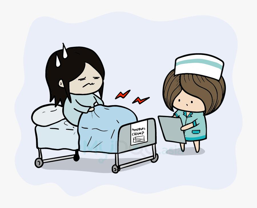 Patient Clipart Hospital Bed - Cartoon, Transparent Clipart