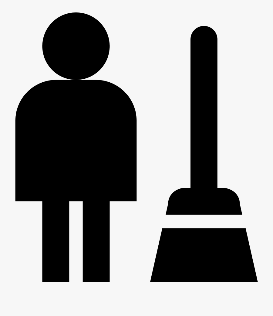 Clipart Custodian White - Housekeeping Manager Clipart Icons, Transparent Clipart