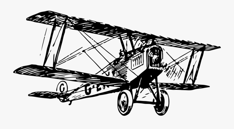 Driven Aircraft,line,boeing P 12,vickers F - Bi Plane Transparent Png, Transparent Clipart