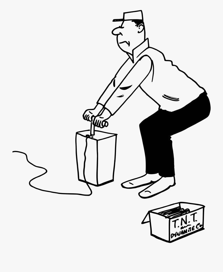 Man With Dynamite - Man Dynamite Drawing, Transparent Clipart