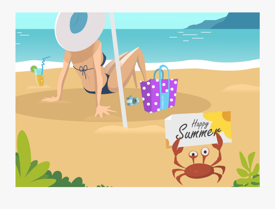 Clip Art Animated Vacation - Vacation Animated, Transparent Clipart