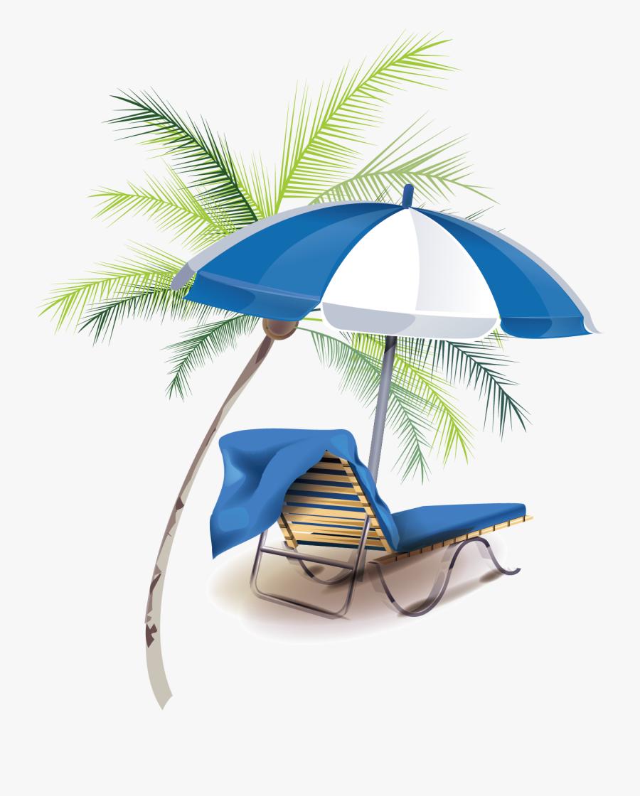 Transparent Summer Vacation Clipart - Beach, Transparent Clipart