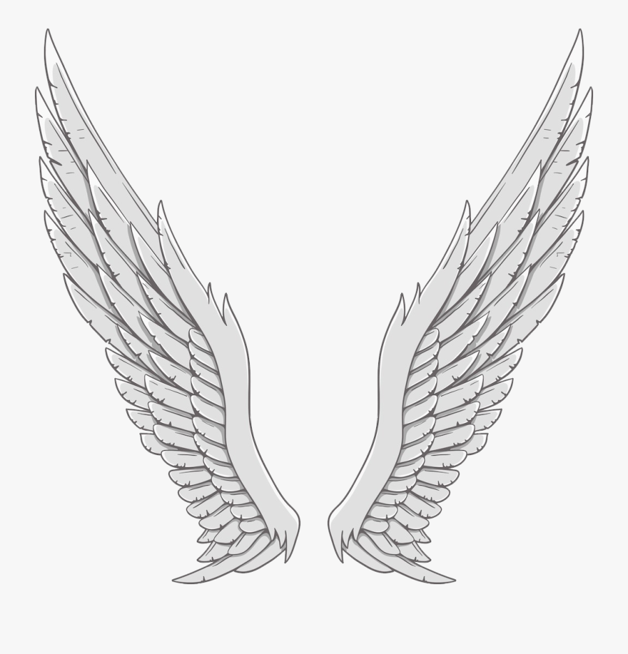 Angel Wing White - Angel Wings White Background, Transparent Clipart