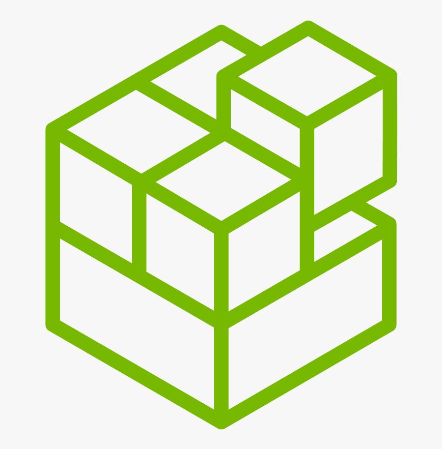 Rubiks Cube Coloring Page Clipart , Png Download - Iconos De Cubos De Rubik, Transparent Clipart