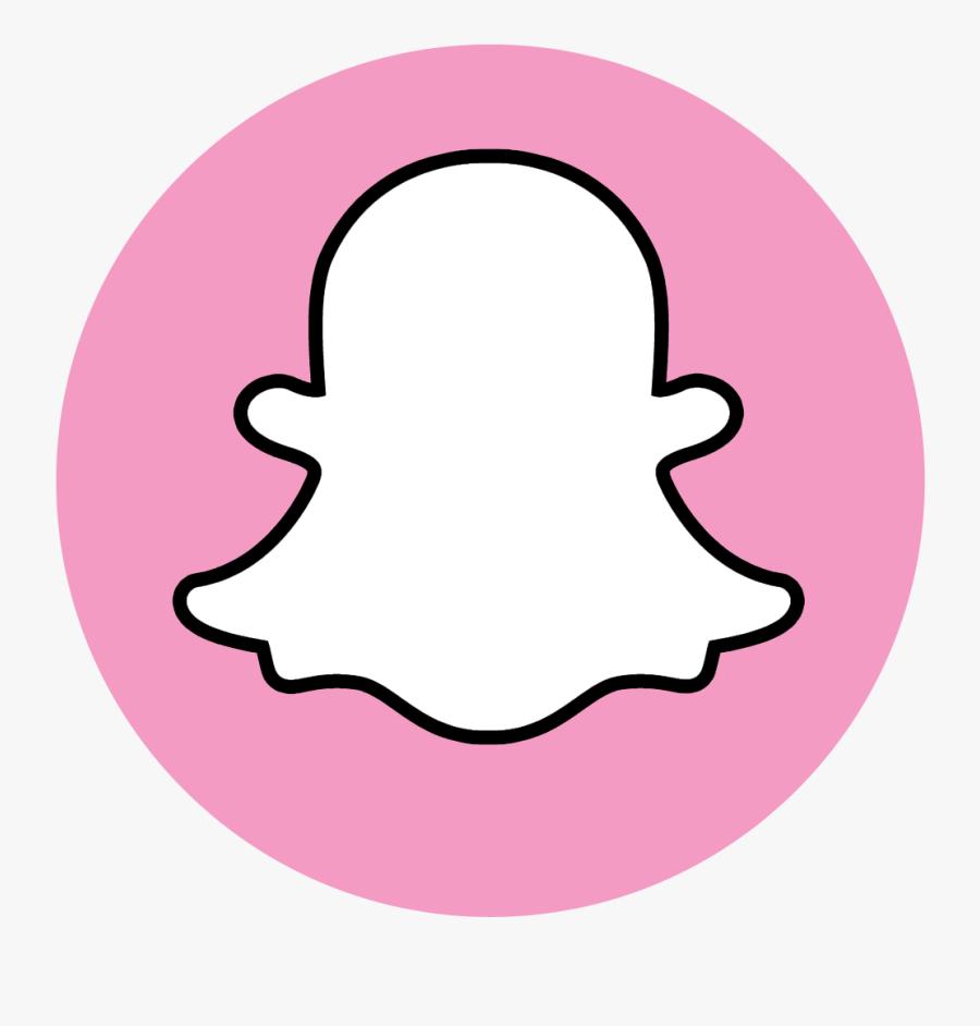 Snapchat Logo Png Transparent Background Pink Snapchat Logo Png Free Transparent Clipart Clipartkey